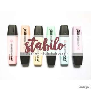 Stabilo Boss Pastel Highlighters