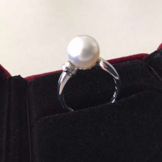 ✨final sale $3,298, 55% off✨ South sea white pearl diamond ring