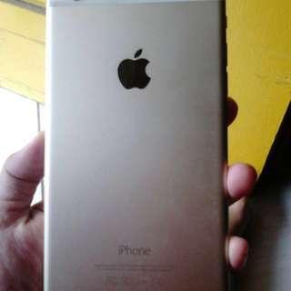 Iphone 6plus 64gb gold  fullset casan gak ori hf ori samsung