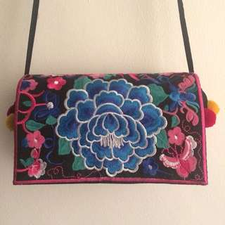 HMONG TRIBES CLUTCH BAG