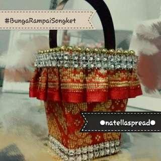 (Exclusive) Bunga Rampai Songket Holder