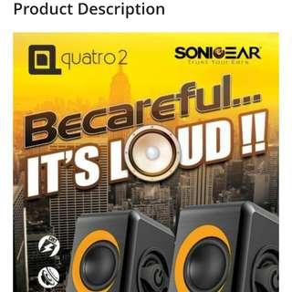 SonicGear 2.0 Speaker Quatro 2 Red