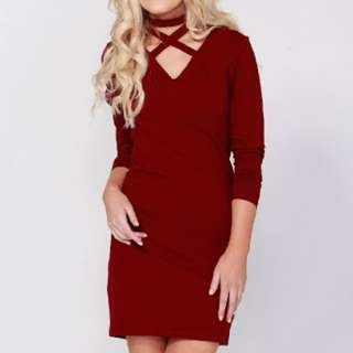 Sass Red Olsen Choker Dress