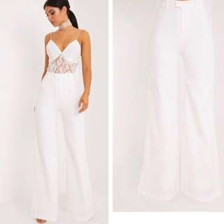 Pretty Little Thing Wide Leg Crepe Trousers