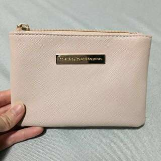 Colette pink nude pouch