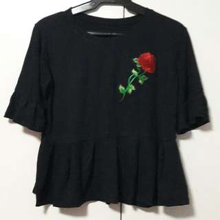 Floral Patched Blouse