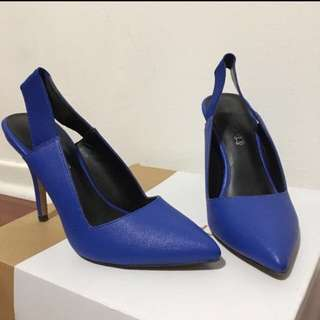 Aldo Genuine Leather Cobalt Blue Heels