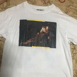Off White Caravaggio CUT OFF White tshirt