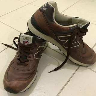 New Balance 576 Brown Trainers