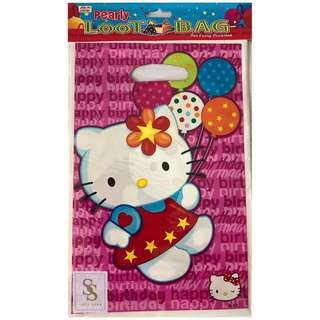 Hello Kitty Party Favor Plastic Loot Bag 3 packs/set