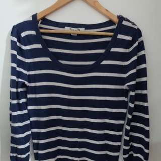 Forever 21 Blue and White Striped Mini Dress