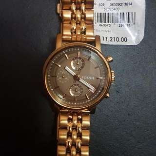 REPRICED!!! Original Boyfriend Chronograph Rose-Tone Stainless Steel Fossil Watch