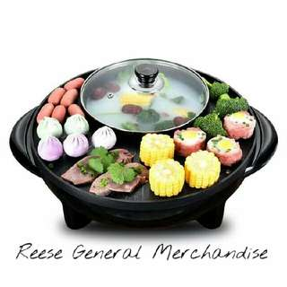 2 In 1 korean bbq Grill & Steamboat