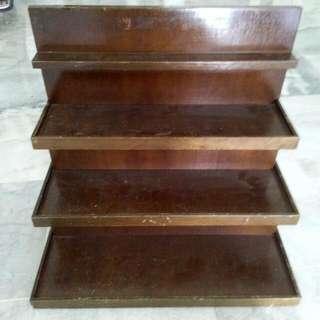 Vintage Wooden Cassette Rack