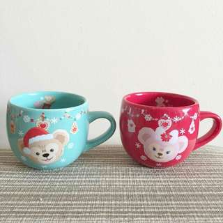 Tokyo Disney Sea Duffy & Shellie May Christmas Pair Cup