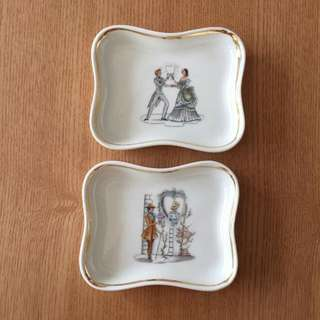 Limoges France DT The Proposal Pin Tray Teabag Stand