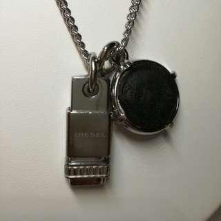 購自日本專櫃正牌DIESEL不銹鋼頸鍊