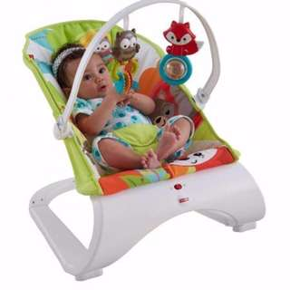 buaian curve bouncer fisher price