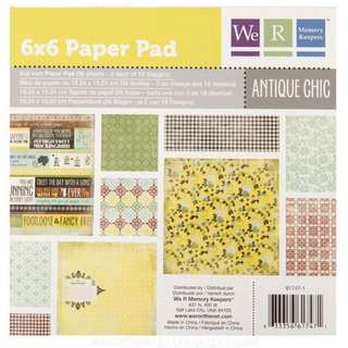 We R Memory Keepers Antique Chic 6 x 6 Papers