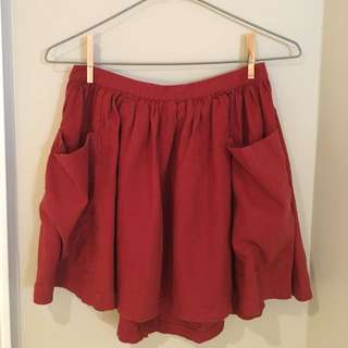 Burnt Orange Forever 21 Skirt (M)