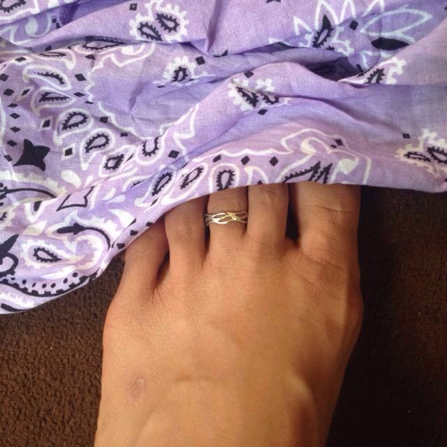 925 silver toe ring