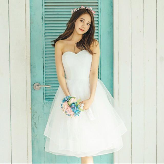 白紗小禮服