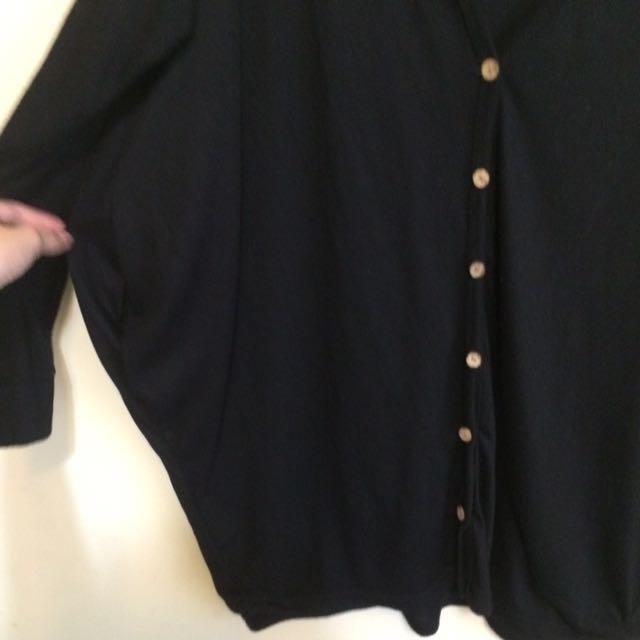 簡單隨性春秋蝙蝠袖薄外套