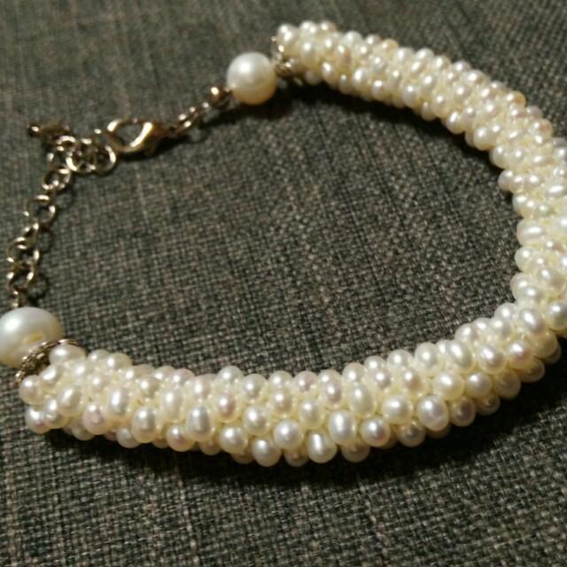 手作珍珠手環