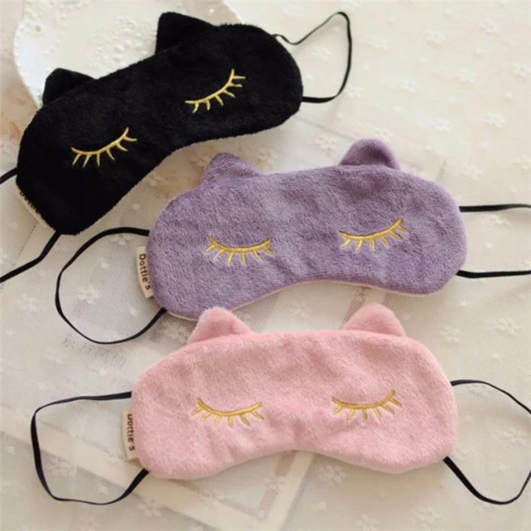 絨毛貓咪眼罩