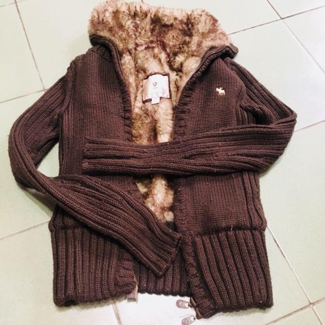 Abercrombie美國購入巧克力色毛衣外套