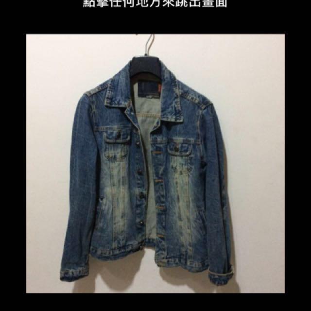 (特價免運)apm韓製刷舊牛仔外套