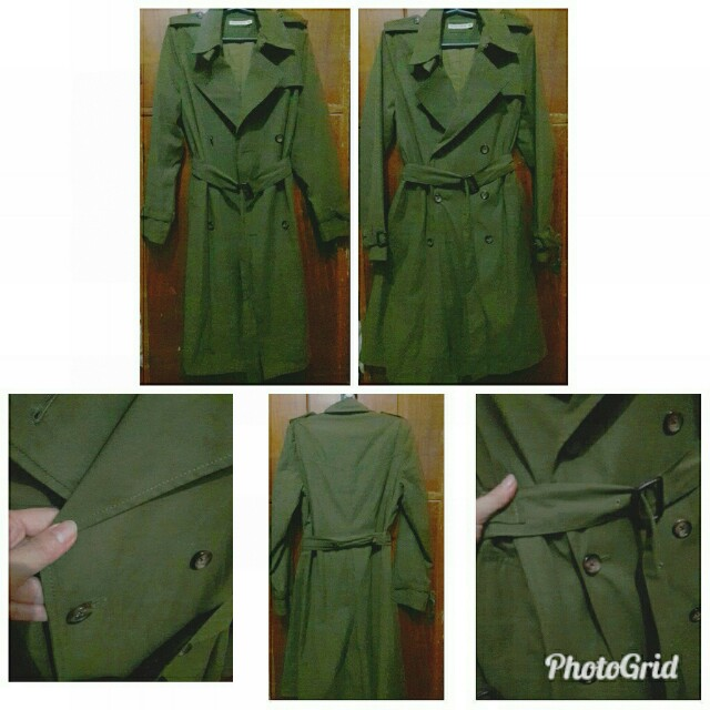 Army Green Trench Coat