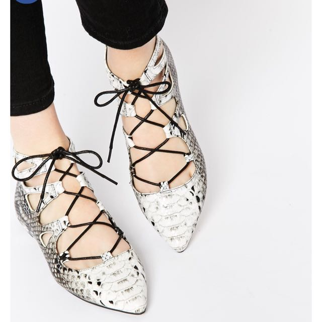 ASOS Lace Up Ankle Flats