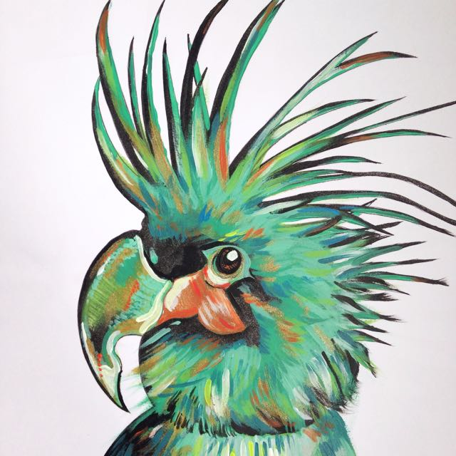Badass Parrot. Prints Available