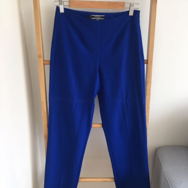 Basque Boot Leg Blue Pants