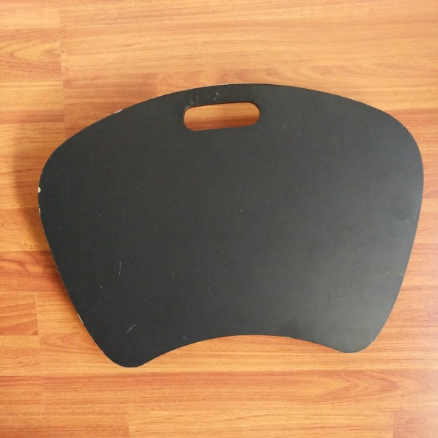 Black padded lap tray for Laptop or iPad support in bed or couch