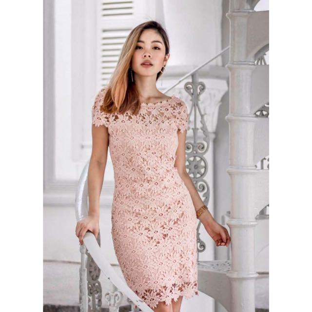 990479751fcf Blush Crochet Dress, Women's Fashion, Clothes, Dresses & Skirts on Carousell