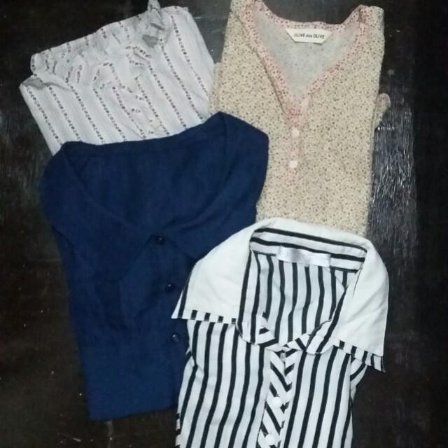 Bundled office blouse