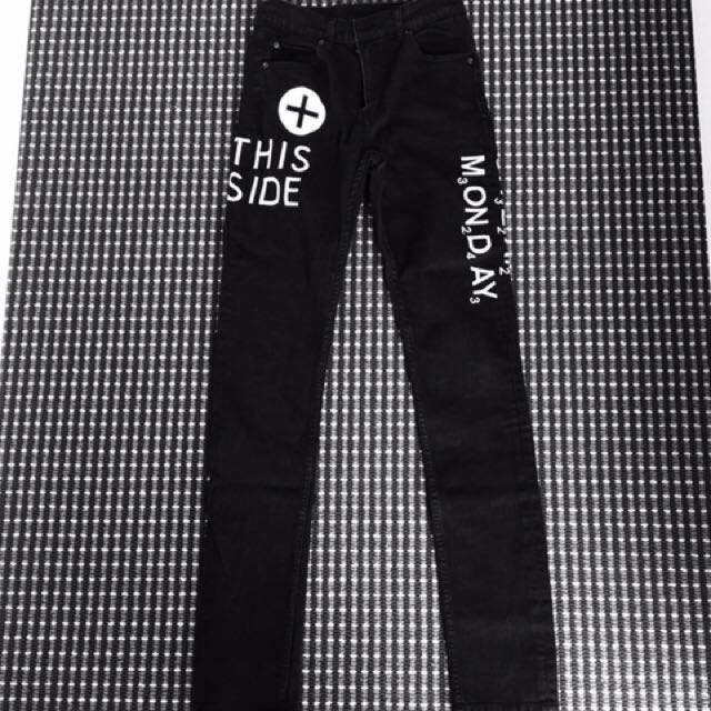 Cheap monday black skinny jeans