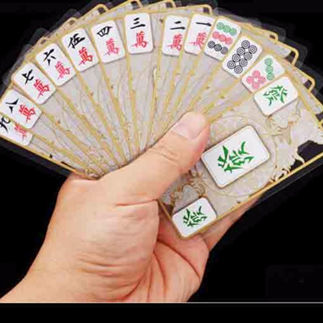 CHEAPEST: Silent Crystal transparent mahjong 148 portable