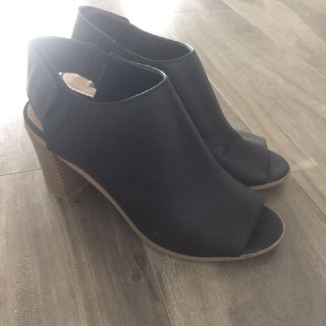 Chunky PeepToe Heel