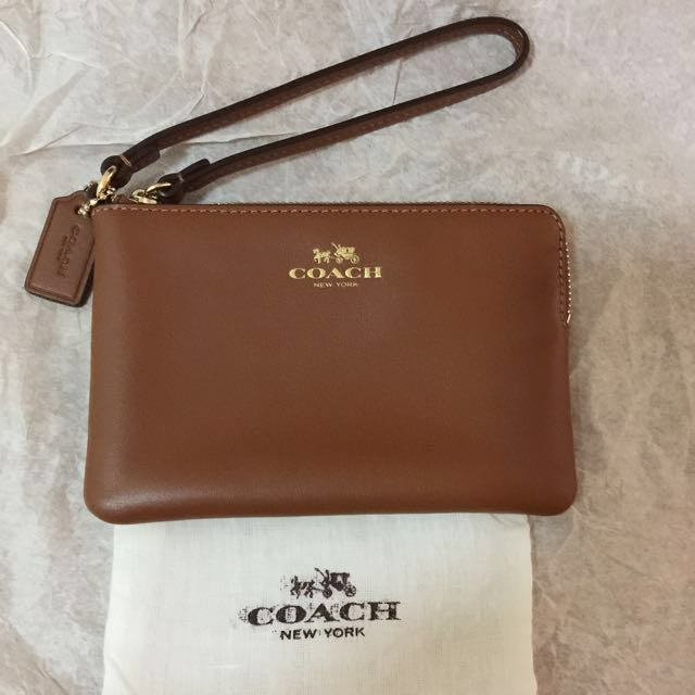 best service 1f7a1 5d735 Coach brown leather wallet/wristlet/phone case/ key holder with dustbag  great gift mk kate tory
