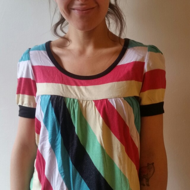 Colourful stripes t shirt