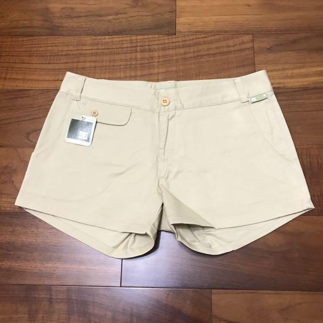 [全新正品DC]女美式休閒棉質卡其短褲