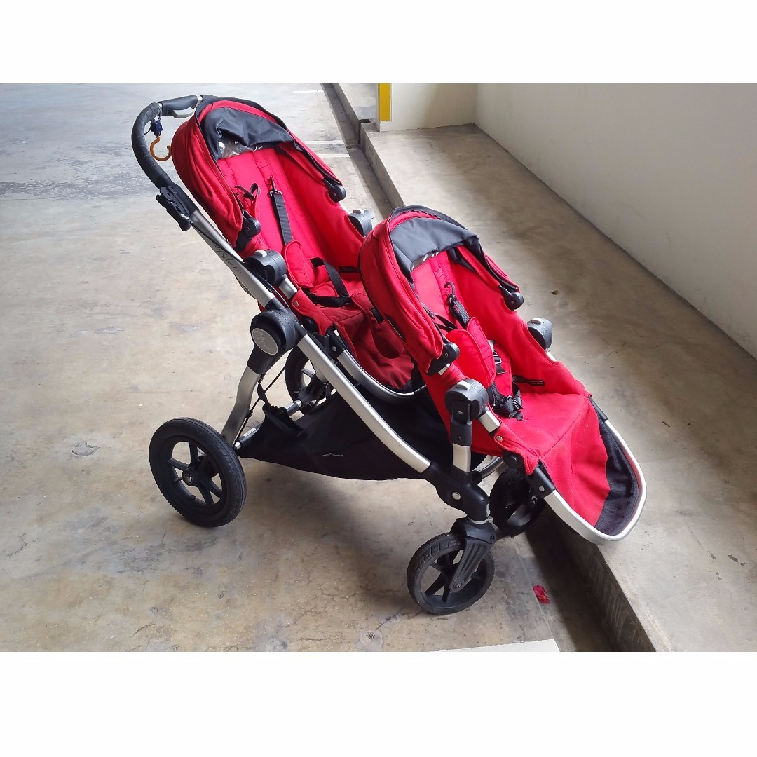 Double Stroller Baby Jogger City Select Red Babies Kids