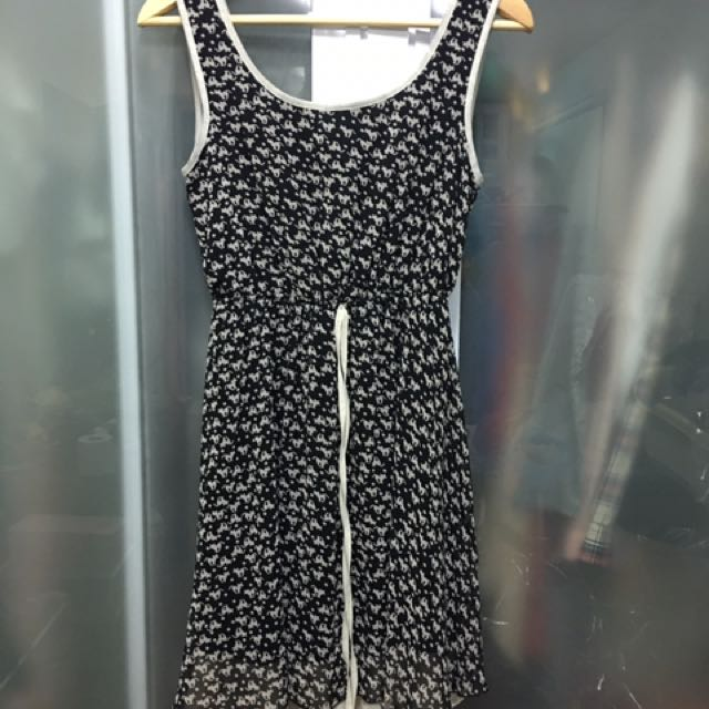 Dress with Cat Print