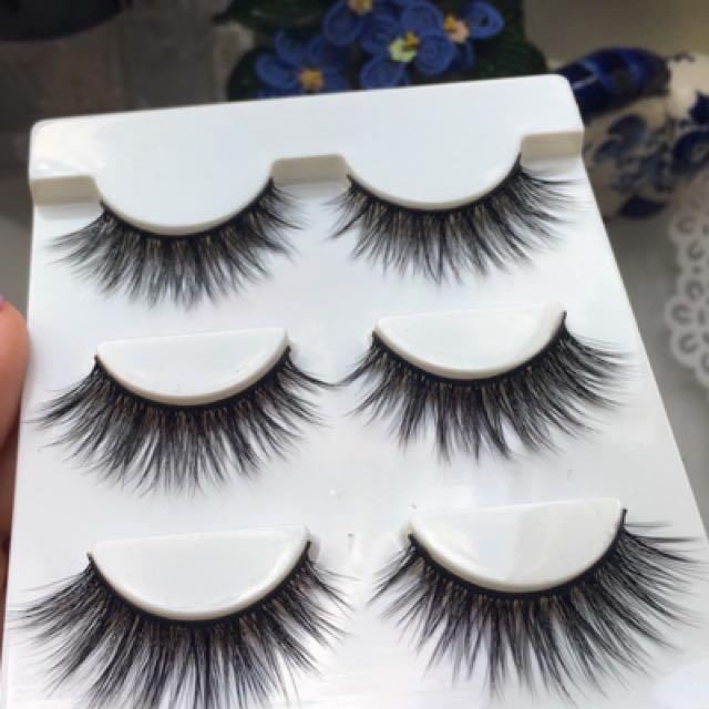 False eyelashes - 3 pairs in a pack