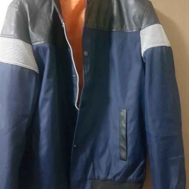fashion leather faux xl jacket slim fit