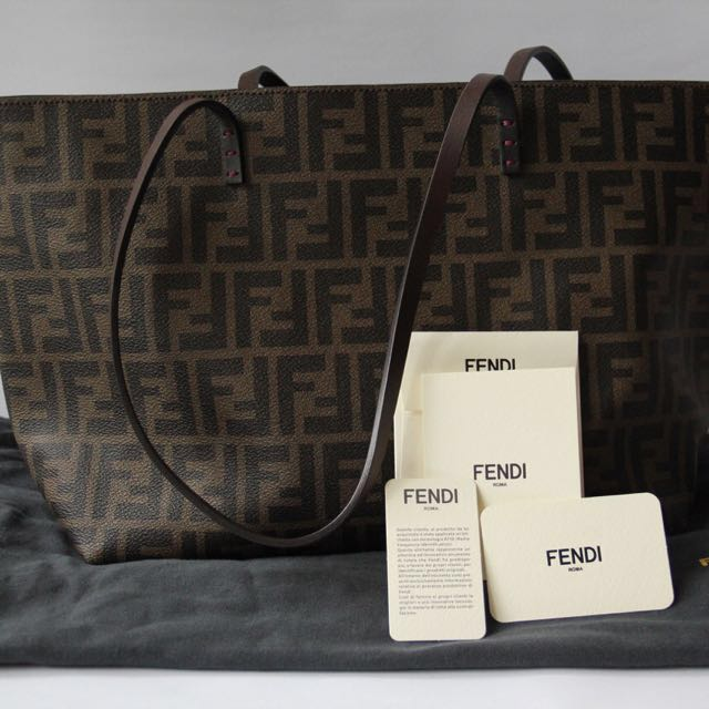 a74636197e real fendi roll bag cloth handbag f7476 f55c0  authentic fendi roll bag  piccola zucca pu womens fashion bags wallets on carousell 15ee5 80f52