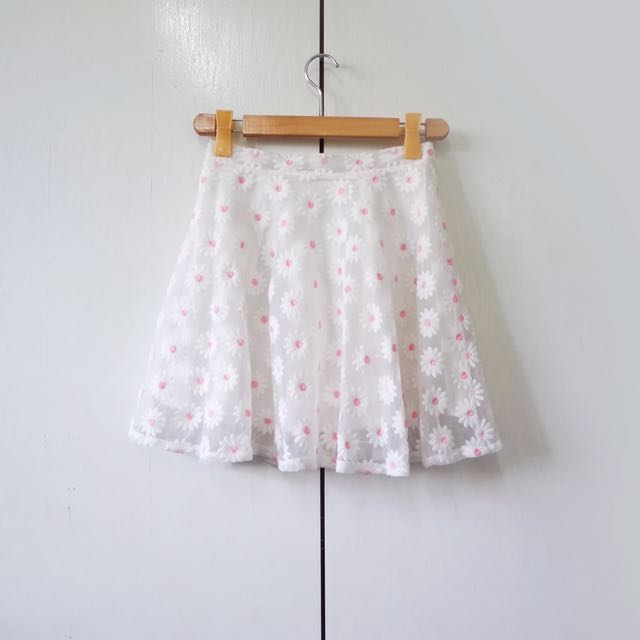 Floral skirt with zipper